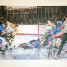 Signed In The Slot, Vic Hadfield, Ed Giacomin & John Bucyk  - Lithograph