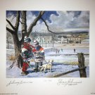 Let's Ask Lithograph, Signed by Johnny Bower & Jean Beliveau