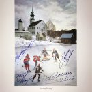Signed by B. Hull, J. Bower, Y. Cournoyer & M. Dionne - Saturday Morning Litho