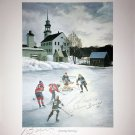 Signed Litho Johnny Bower, Guy Lafleur, Bobby Hull - Montreal, Chicago, Toronto