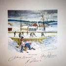 Where Legends Begin, Signed: Bower, Hull, Lafleur, Beliveau  - Lithograph