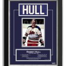 Bobby Hull Winnipeg Jets Collectible Namebar, Ltd Ed 16/99 - Career Stats