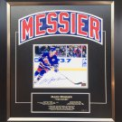 Mark Messier Framed Namebar Signed, NY Rangers, Ltd Ed 11/11 - Career Stats