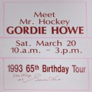 "Gordie Howe """"Mr. Hockey"""" Signed Vintage Sign - Detroit Red Wings"
