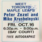 Peter Zezel, Mike Krushelnyski Autographed Vintage Sign - Toronto Maple Leafs