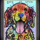 """""Dog is Love"""" Textured Giclee Print by Dean Russo"