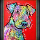 """""Dog into your Heart"""" Textured Giclee Print by Dean Russo"