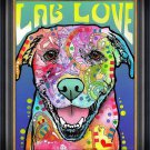 """""Lab Love"""" Textured Giclee Print by Dean Russo - Dog Art"