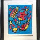"""""Harmony in Nature"""" Print by Norval Morrisseau, Ltd Ed /950 - Framed Canvas"