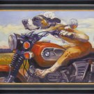 """""Fast and Furriest"""" Print by Connie Townsend - Framed Canvas"