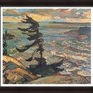 "Frederick Varley Ltd Ed Group of Seven """"Stormy Weather"""" - Georgian Bay 1921 - Framed Canvas"