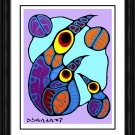"""Norval Morrisseau Limited Edition Print """"""""Family of Birds"""""""" - Framed Canvas"""