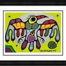 Norval Morrisseau Limited Edition Thunderbird Protects Young - Framed Art Print