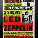 Led Zeppelin Aug 1969 Toronto Rockpile Concert Site Poster - Custom Framed