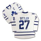 Darryl Sittler Autographed White Toronto Maple Leafs Jersey