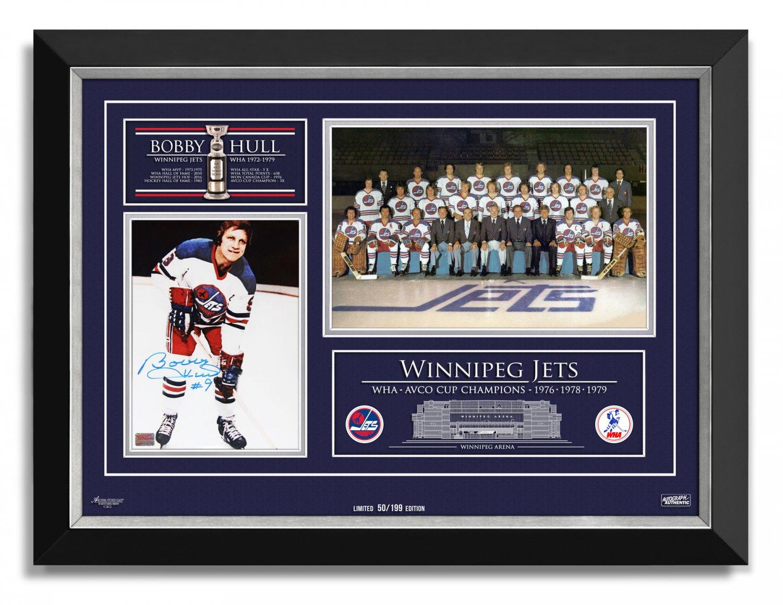 Bobby Hull Signed Winnipeg Jets WHA Champs Ltd Ed of 199 - 1976, 1978, 1979