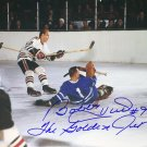 Johnny Bower and Signed Bobby Hull Photo - Chicago Blackhawks, TO Maple Leafs
