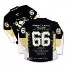 Mario Lemieux Elite Edition Career Jersey Signed - Ltd Ed 66, Pittsburgh