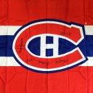 Signed Flag Lafleur, Richard, Beliveau, Cournoyer, H Richard - MTL Canadiens