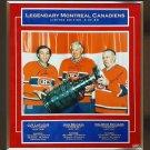 Maurice Richard, Jean Beliveau, Guy Lafleur Signed #4 of 23 - 16x20 Photograph