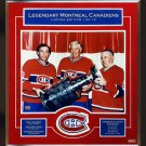 Maurice Richard, Jean Beliveau, Guy Lafleur Signed, 1 of 10 - Patch with Photo
