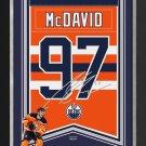 Connor McDavid Framed Arena Banner Ltd Ed - Edmonton Oilers, Facsimile Signed