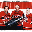 Facsimile Signed MTL Legends Richard, Beliveau and Lafleur - Ltd Ed /999