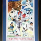 Carter, Borders, Alomar & Winfield - Signed Poster - Blue Jays 1992 World Series