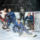 The Last Line of Defence signed By Baun, Brewer & Bower - Toronto Maple Leafs