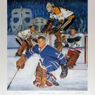 Signed Original Six Litho: Bower, Cheevers, Hall, Worsely