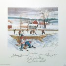 Autographed Bower, Hull, Stanley, Dionne Lithograph - Toronto, Chicago, LA