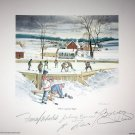Signed Hull, Bower, Lafleur, Mahovlich Lithograph - Montreal, Chicago, Toronto