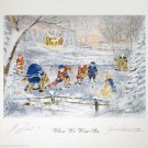 When We Were Six Litho Signed Guy Lafleur, Yvan Cournoyer - Montreal Canadiens