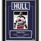 Bobby Hull Winnipeg Jets Collectible Namebar, Ltd Ed 99/99 - Career Stats
