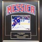 Mark Messier Framed Namebar Signed, NY Rangers, Ltd Ed 1/11 - Career Stats