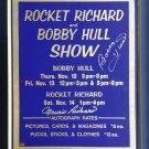 Bobby Hull, Maurice Richard Signed Vintage Sign - CHG Blackhawks, MTL Canadiens