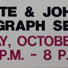 Johnny Bower and Pierre Pilote Signed Vintage Sign - Blackhawks, Maple Leafs
