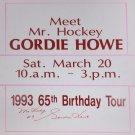 """Gordie Howe """"""""Mr. Hockey"""""""" Signed Vintage Sign - Detroit Red Wings"""