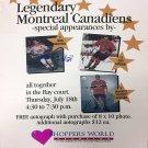 Signed Maurice Richard, Jean Beliveau, Guy Lafleur - Vintage Sign, MTL Canadiens