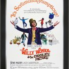 Willy Wonka & The Chocolate Factory - Vintage Movie Poster - Framed Art Print