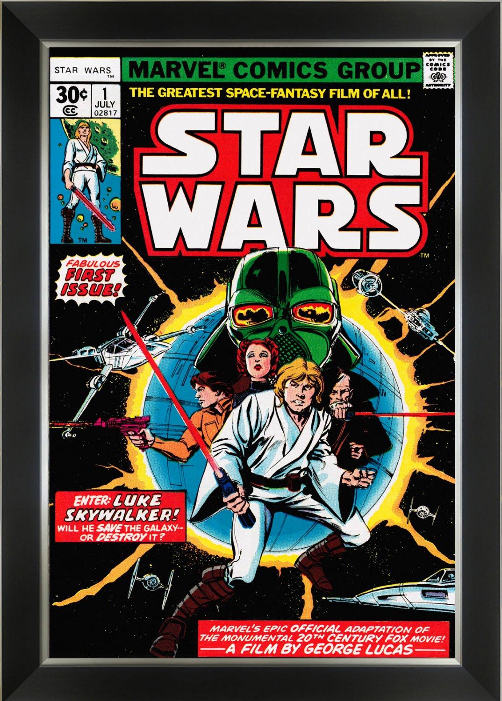 Star Wars Marvel Comics First Issue Cover Art - Framed Art Print