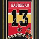 Johnny Gaudreau Arena Banner Ltd Ed 1/113 - Calgary Flames, Facsimile Signed