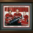M. Richard, Beliveau and Lafleur Facsimile Autographs Framed - Ltd Ed /999