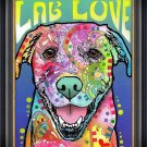 """""""""""Lab Love"""""""" Textured Giclee Print by Dean Russo - Dog Art"""