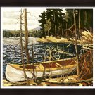 "Tom Thomson Limited Edition Group of Seven Print """"The Canoe"""" - Framed Art Print"