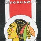 Autographed Bobby Hull, Dennis Hull, Pierra Pilote Flag - Chicago Blackhawks
