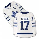Wendel Clark Autographed White Toronto Maple Leafs Jersey