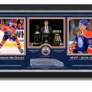 Connor McDavid Trophies, Framed Collector Photos Ltd Ed /297 - Etched Design
