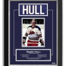 Bobby Hull Winnipeg Jets Collectible Namebar, Ltd Ed 16/99 - Career Stats