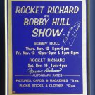 Bobby Hull, Maurice Richard Signed Vintage Sign - CHG Blackhawks, MTL Canadiens